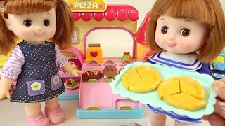 Baby Doll Pizza shop and play doh Surprise eggs toys