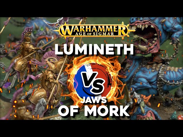 RAPPORT DE BATAILLE AGE OF SIGMAR - Lumineth VS Jaws of Mork - 3000pts (Feat. @The Squig Herd )