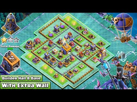 NEW Clash of Clans BH8 Base Layout With Extra Walls 2018 | Anti 2 & 3 Star BH8 Base 2018