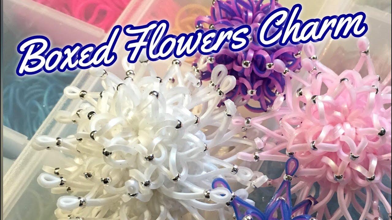Boxed Flowers Chrysanthemum Rainbow Loom Loomigurumi Tutorial レインボールーム 花 菊