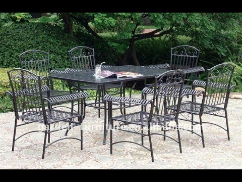 Wrought Iron Patio Furniture Sets Youtube
