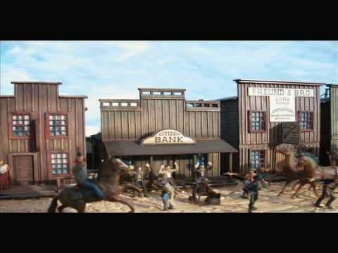 WILD WEST CITY DIORAMA MODEL KIT 1/72 SCALE