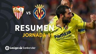 Resumen de Sevilla FC vs Villarreal CF (1-2)