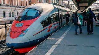 765➡️Санкт-Петербург - Москва. Поездка на высокоскоростном поезде Сапсан. Вид из окна.
