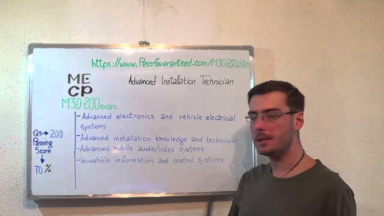 M30 200 Advanced Exam Installation Technician Test Certification