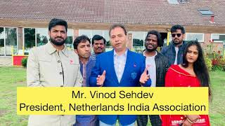 Words of appreciation by the president of Netherlands India Association...