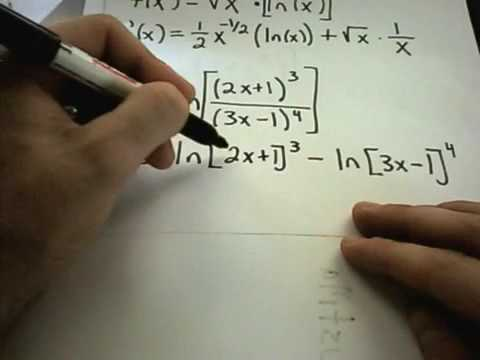 ❖ Derivatives of Logarithmic Functions ❖