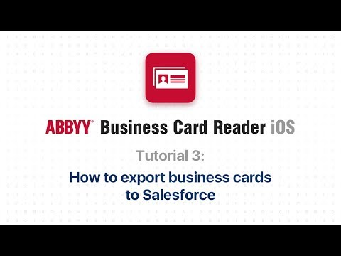 Abbyy Business Card Reader 3 How To Export Business Cards To