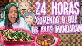 24 HORAS COMENDO O QUE OS AVOS MANDARAM !!!