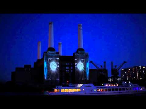 Bombay Sapphire Projection on Battersea Power Station