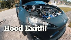 HATER Pipe Hood exit exhaust on Turbo BRZ