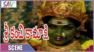 Meenakshi Ammavaru Miracle Scene At Temple  || Sri Kanchi Kamakshi Movie || SAV Entertainment
