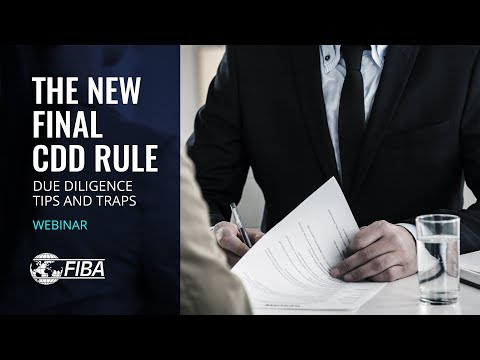 The New Final CDD Rule: Due Diligence Tips and Traps   AML