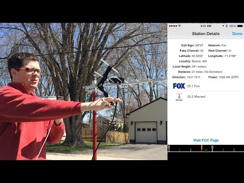 Pointing a TV Antenna with TV Towers USA