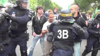 Violence des CRS contre les cheminots SNCF mardi 17 juin