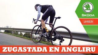 Escrotazo en el Angliru | Ibon Zugasti | La Vuelta con Škoda