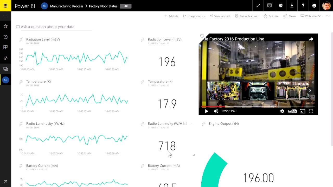 Live Data Streaming in Power BI