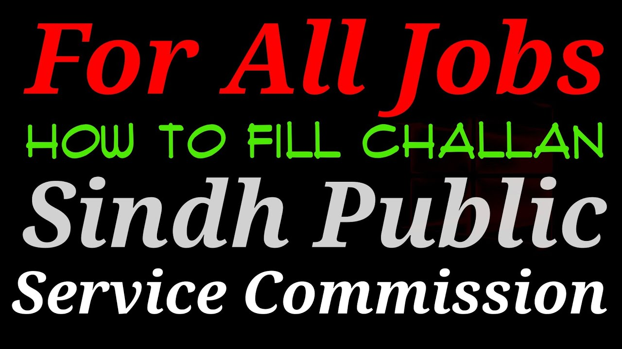 Example - Challan of SPSC (Sindh Public Service Commission)