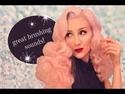 Vintage Waves Hair Tutorial (ASMR soft spoken, brushing, hair spray)