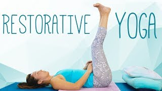 Relaxing Beginners Yoga for Better Sleep, Pain Relief, Safe Stretches, Restorative | Julia B