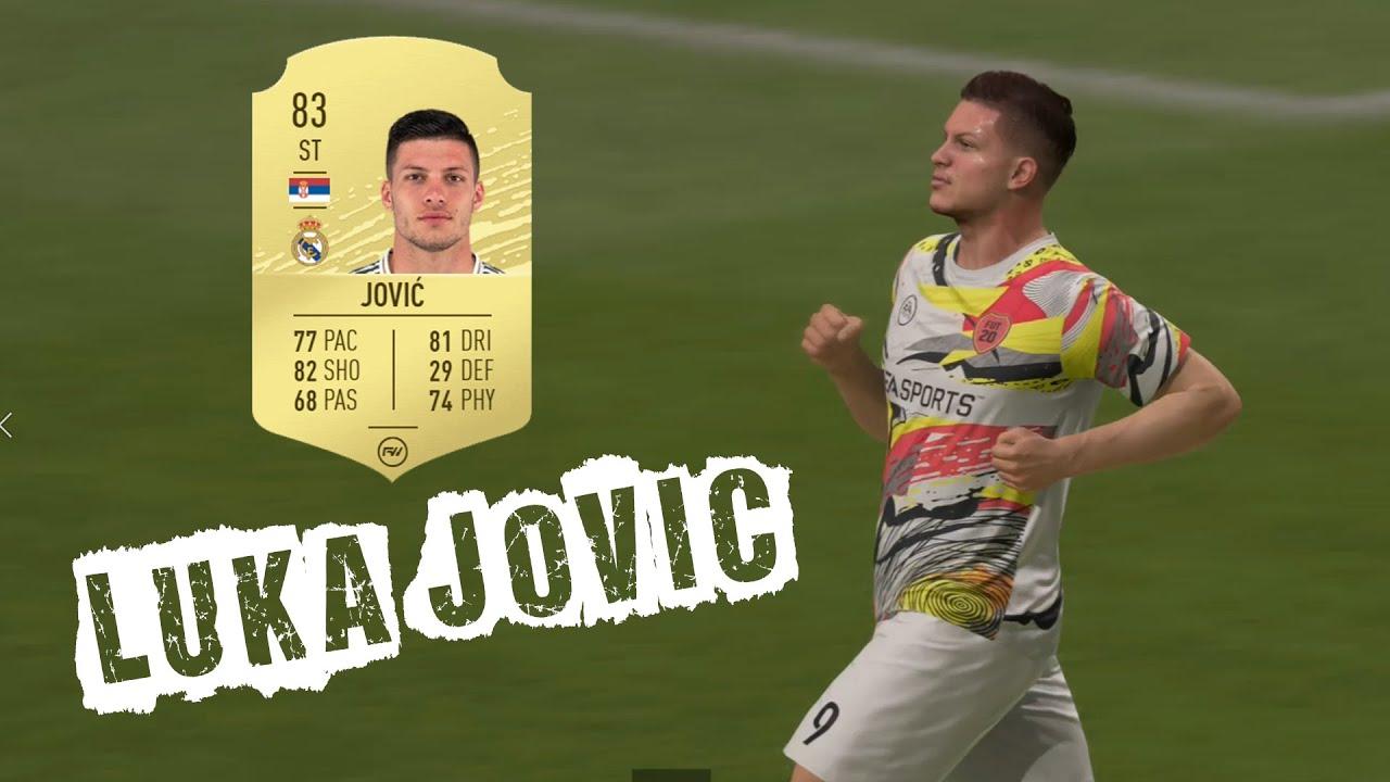 Luka Jovic FIFA 20 Ultimate Team - YouTube