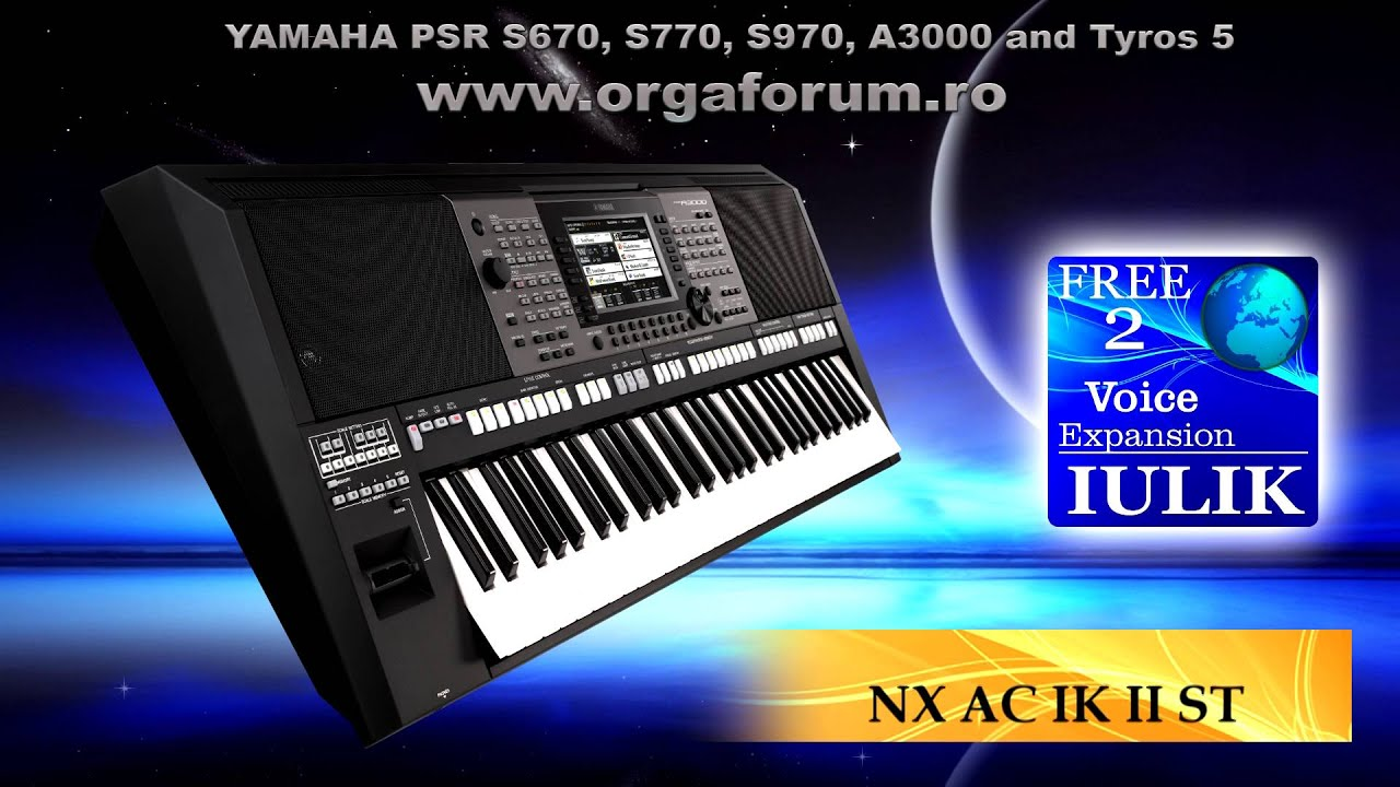 DEMO PACK IULIK FREE 2 for YAMAHA PSR and Tyros 5 - YouTube