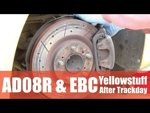 Shocking EBC Yellowstuff Pads After Track Day! AD08R Tyres Are Good! - PerformanceCars