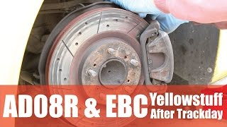 shocking ebc yellowstuff pads after track day ad08r tyres are good performancecars