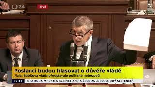 Hlasování o důvěře vlády 11.7.2018 - přestřelka Kalousek Babiš