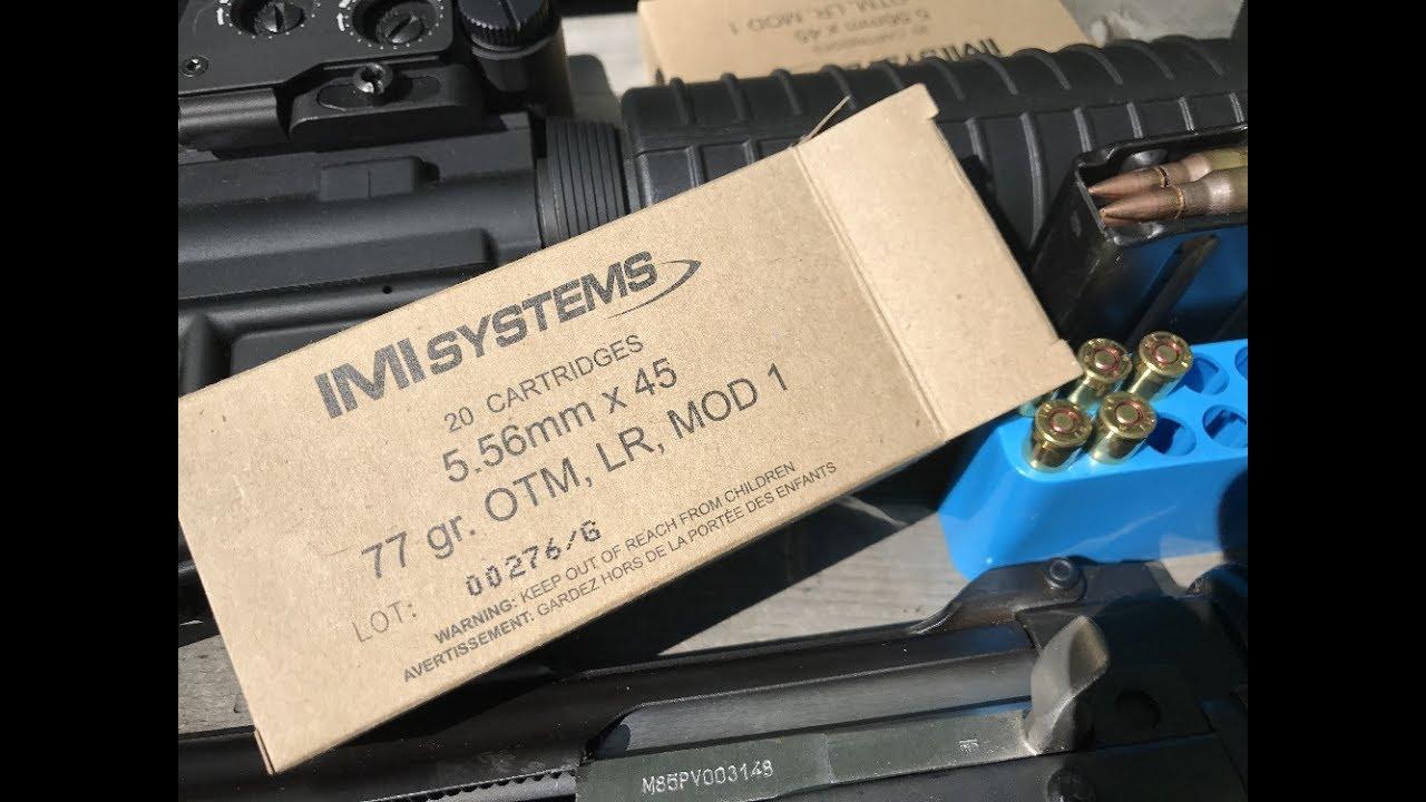 5 56x45mm, 77gr HPBT Match, Razor Core, MK262 Mod 1, IMI Systems, Velocity  Tests by Buffman - R A N G E