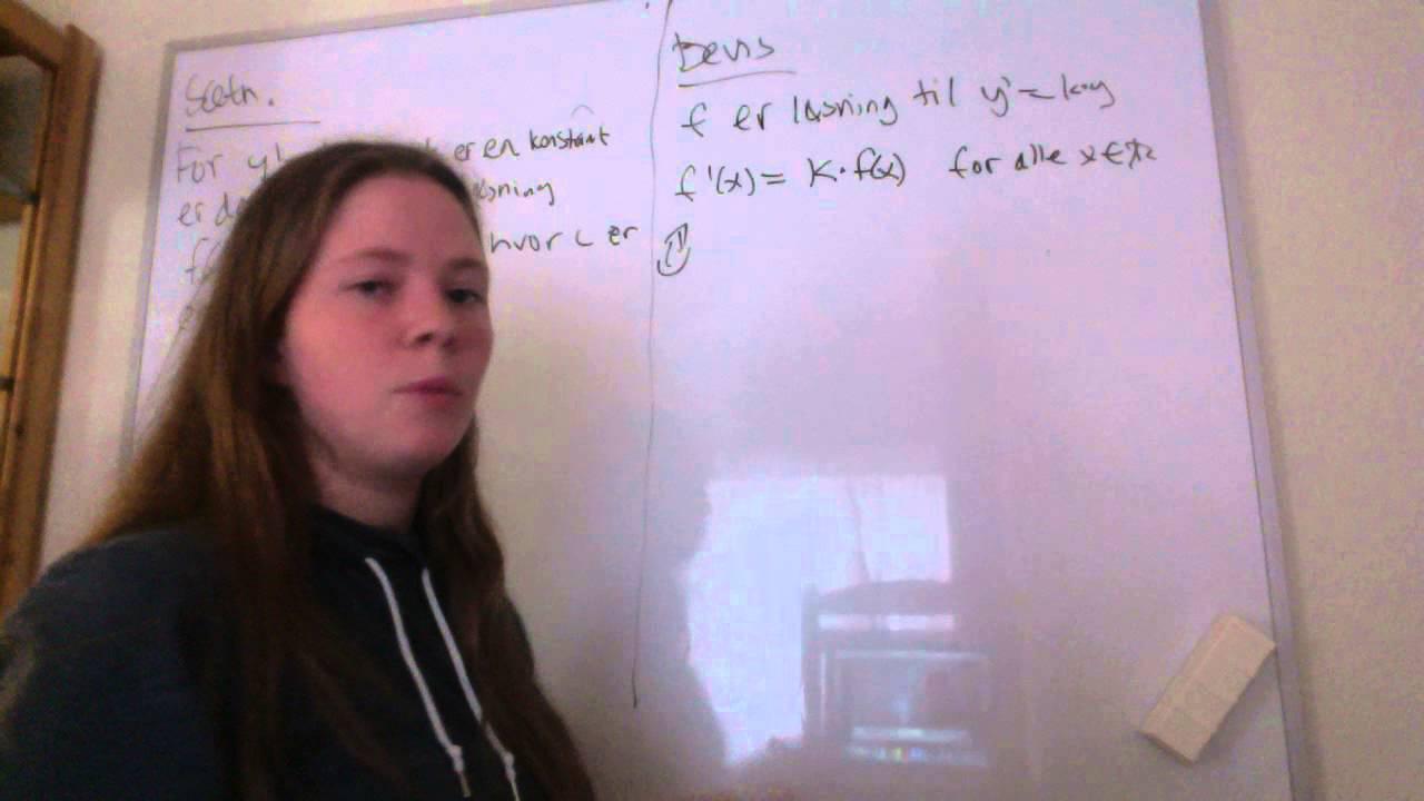 Spørgsmål nr. 15 om differentialligninger