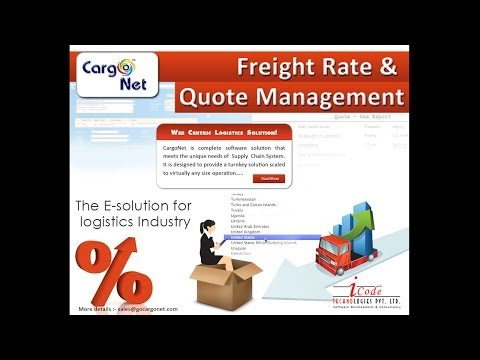 Logistics software / Logistics ERP - Cargo Net - Freight Rate and Quote management