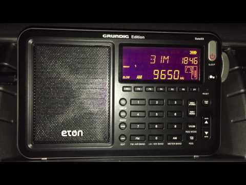 The Eton Satellit; Radio Guinée 9650 kHz Conakry, Guinea, armchair copy