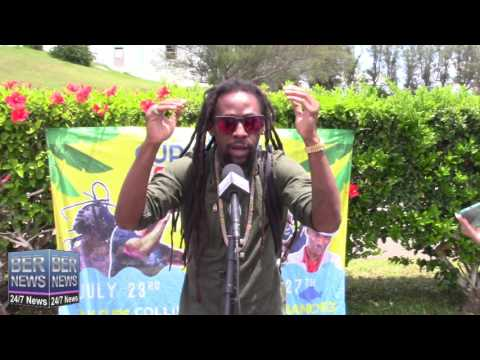 Jah Cure Arrives In Bermuda, July 22 2016