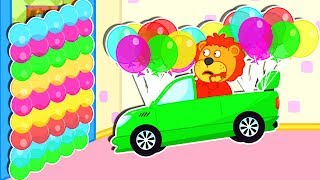 Lion Family 😜 Fun Playtime - Kids Play with Balloon | Cartoon for Kids