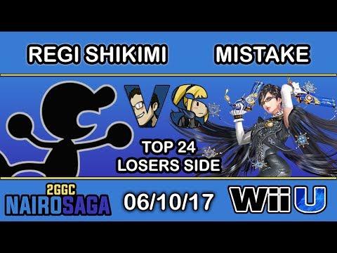 2GGC: Nairo Saga - SF   RG   Regi Shikimi (Mr. Game & Watch) Vs. Mistake (Bayonetta) Top 24 Losers