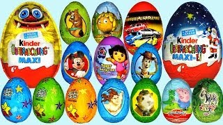 Repeat youtube video 60 Surprise eggs Kinder Surprise Dora the Explorer Peppa Pig Mickey Mouse clubhouse