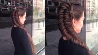 White Hair Szalon - Fonási technikák - Féloldalas fordított halszálka fonás videó lépésről lépésre