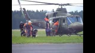 SAR dog training - helicopter transport