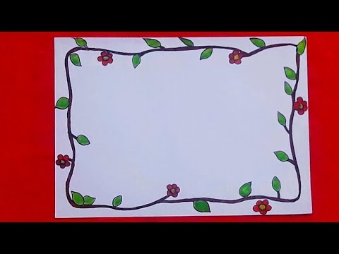 Flower Front Page Design For School Project File Handmade Paper