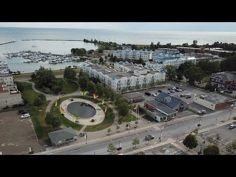 Aerial view of Cobourg Ontario