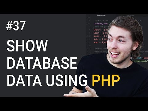 37: How To Show Database Data On A Website Using MySQLi | PHP Tutorial | Learn PHP Programming