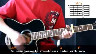 Chris Tomlin - Indescribable Cover With Guitar Chords Lesson
