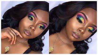 How To: Colorful Eyeshadow Tutorial | Cut Crease| Morphe X James Charles| Ariel Black