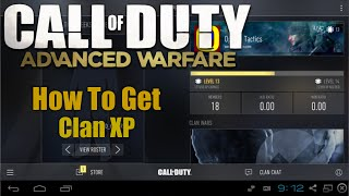comment faire xp le clan advanced warfare
