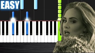Adele - Hello - EASY Piano Tutorial by PlutaX - Synthesia