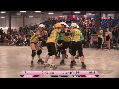 Roller Derby World Cup 2018 Ireland vs. Australia