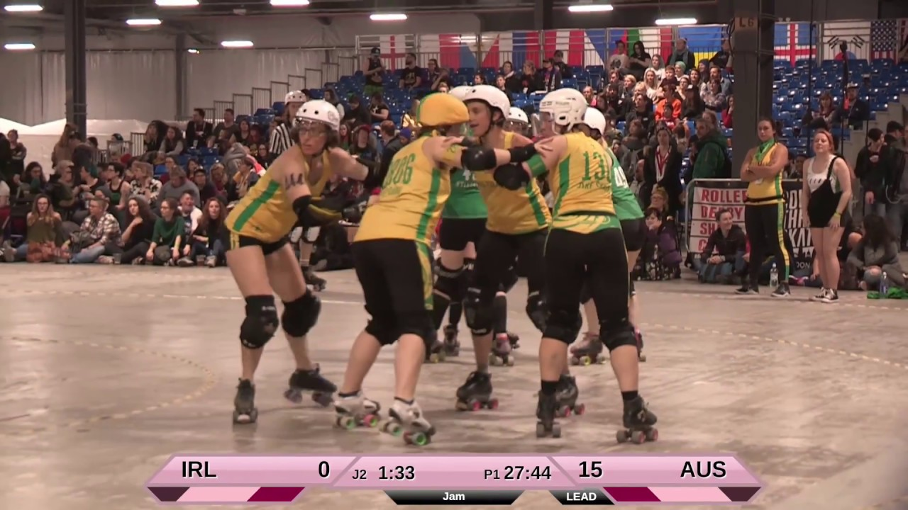 Roller Australia Roller Derby World Cup 2018 Ireland Vs Australia