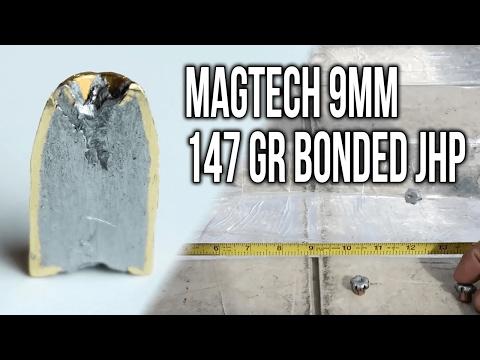 Magtech 9mm 147 gr Bonded JHP (Ammo & Gel Test Review)