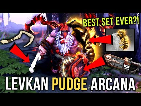 Levkan MOST EXPENSIVE PUDGE SET?! EPIC Pudge Arcana Gameplay Compilation - Dota 2